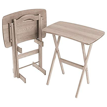 Folding Tv Trays In Trendy Amazon: Manchester Wood Contemporary Folding Tv Tray Table Set (View 3 of 20)