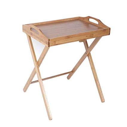 Folding Wooden Tv Tray Tables In Current Amazon: Bamboo Folding Wood Tv Tray Dinner Table Coffee Stand (View 7 of 20)