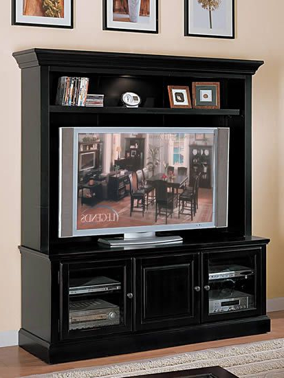 Forest Glenn Plasma 65 Inch Tv Console/ Tv Stand With Lighted Hutch With Regard To Recent Willa 80 Inch Tv Stands (View 7 of 20)