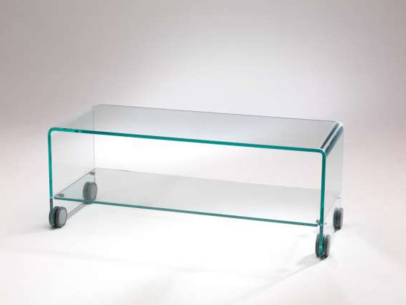 Foxtrot Glass Tv Stand Cart With Wheels Intended For Trendy Glass Tv Stands (View 10 of 20)