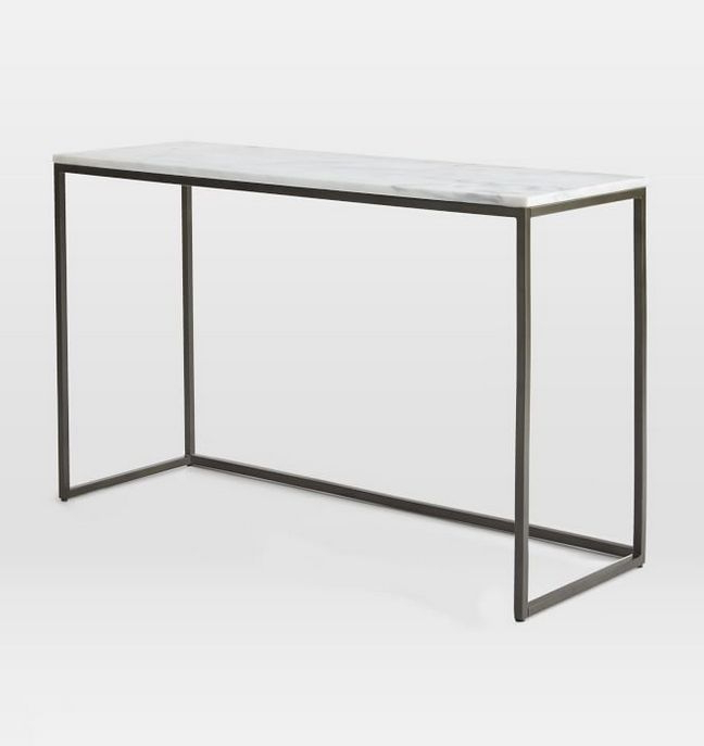 Frame Console Tables Inside Well Known Marble Box Frame Console Table (View 7 of 20)