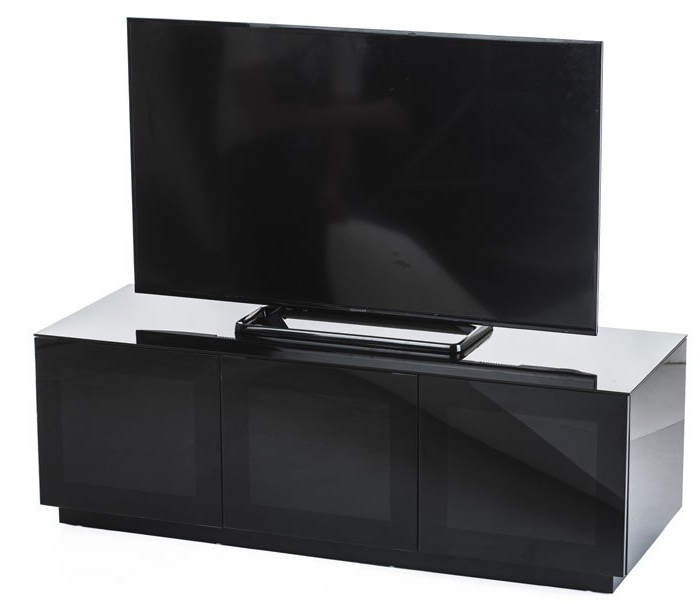 Frank Olsen Chic 140 High Gloss Black 1400mm Tv Cabinet Intended For Preferred Black Gloss Tv Units (View 13 of 20)