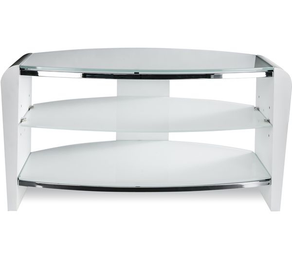 Free Regarding Most Recently Released White Glass Tv Stands (View 6 of 20)