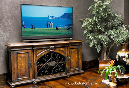 French Country Tv Cabinets Within Most Up To Date Rustic Furniture Spanish Hacienda Tuscan Style Furniture Media Cabinets (View 13 of 20)