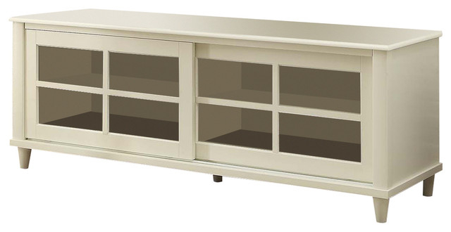"French Country Tv Center, White, 60"" – Transitional – Entertainment Intended For Current French Country Tv Stands (View 4 of 20)"
