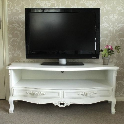 French Style Tv Cabinets With Recent Ornate Carved Wide Tv Cabinet  Rose Wide Tv Cabinet  White Antique (View 13 of 20)