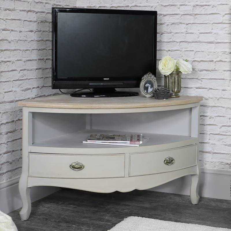 French Tv Cabinets Within Preferred Corner Tv Unit – Albi Range – Melody Maison® (View 10 of 20)