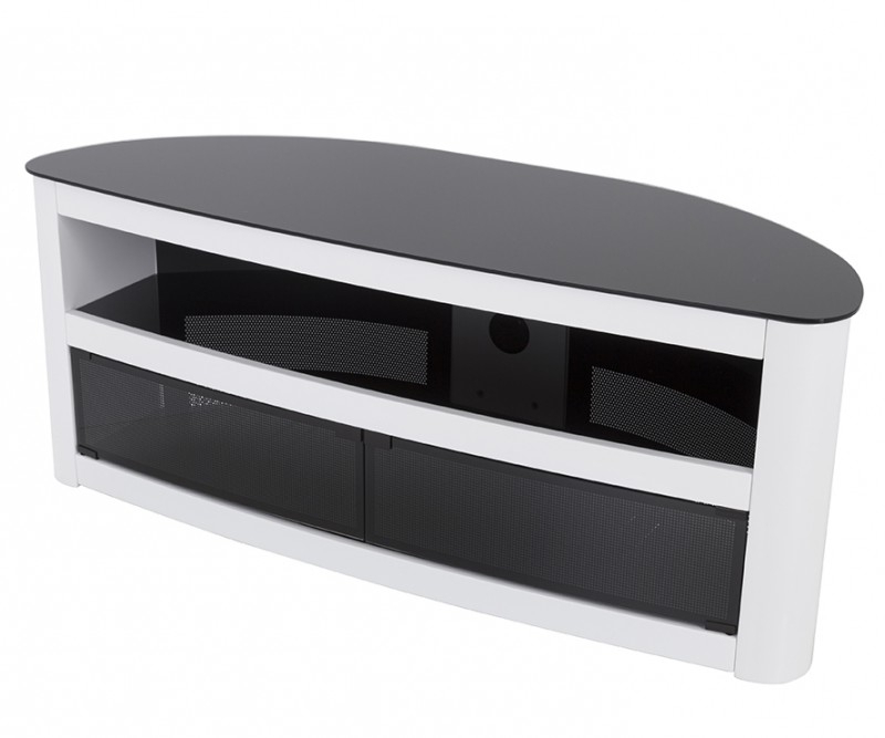 Fs125Burxgw: Affinity Plus – Burghley Curved Tv Stand – Tv Stands Intended For Most Current Curve Tv Stands (View 11 of 20)