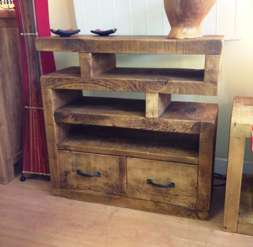 Funky Tv Cabinets Pertaining To Recent Chunky Funky Solid Wood Tv Unit Stand Cabinet Rustic Plank*choose (View 3 of 20)