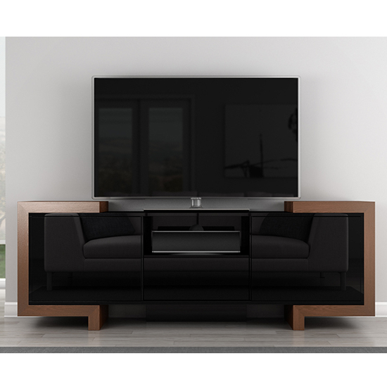 Furnitech Ft75Fa – Contemporary Tv Stand Media Console Up To 65 Intended For Famous Contemporary Tv Stands (View 12 of 20)