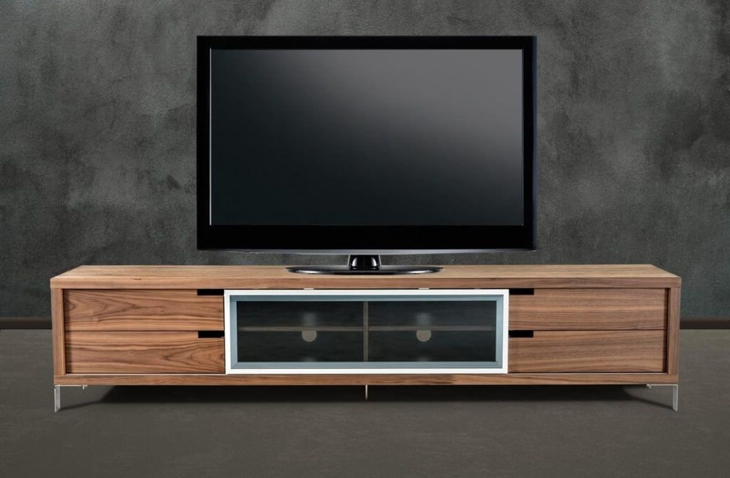 Furniture: Captivating Furniture Walnut Design Modern Tv Stands On For Widely Used Modern Low Tv Stands (View 19 of 20)