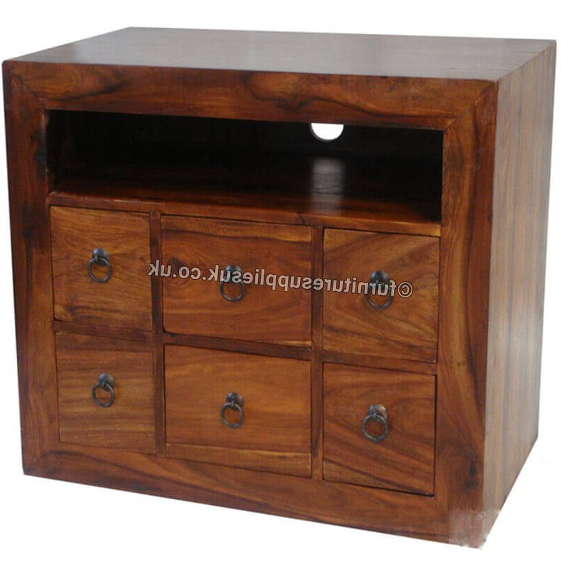 Ganga Range 6 Drawer Jali Tv Cabinet (View 8 of 20)