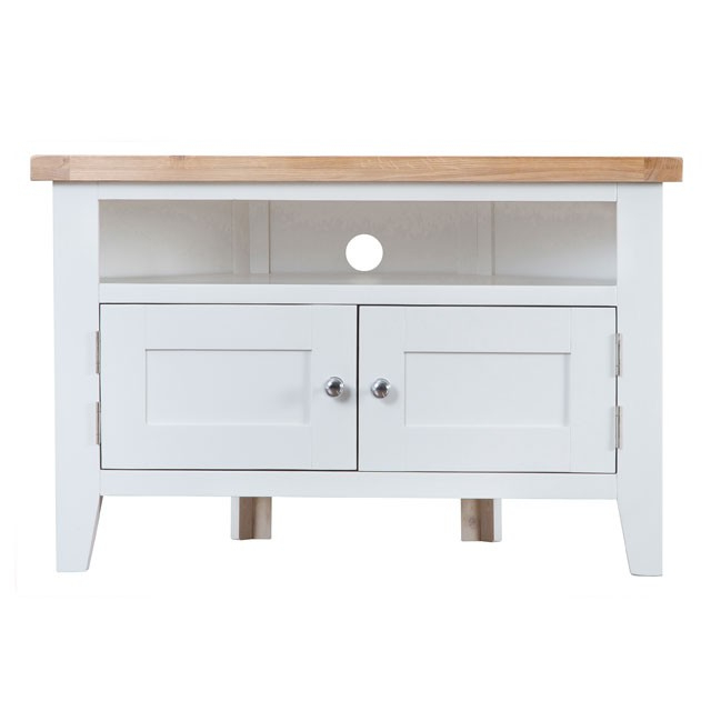 Geneva White Painted Corner Tv Unit – Brand Interiors With Well Liked White Corner Tv Cabinets (Gallery 3 of 20)