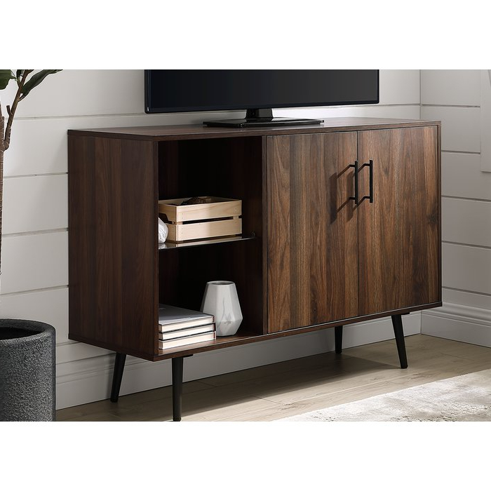 "George Oliver Nathanial Tv Stand For Tvs Up To 48"" & Reviews Intended For Recent Edwin Grey 64 Inch Tv Stands (View 4 of 20)"