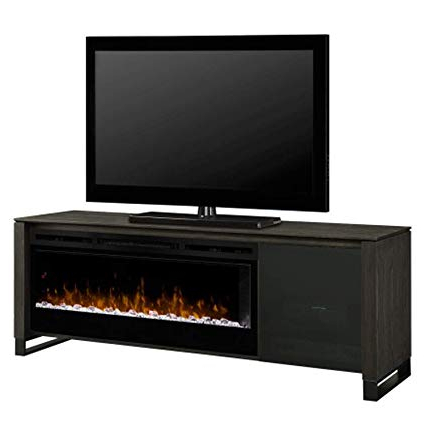 Glass Front Tv Stands With 2018 Amazon: Dimplex Electric Fireplace, Tv Stand, Media Console (Gallery 15 of 20)