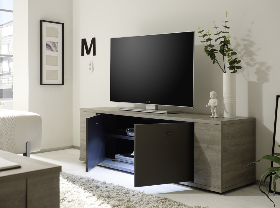 Glass Front Tv Stands With Preferred Glass Front Vitrine Sidneylc Mobili (Gallery 13 of 20)