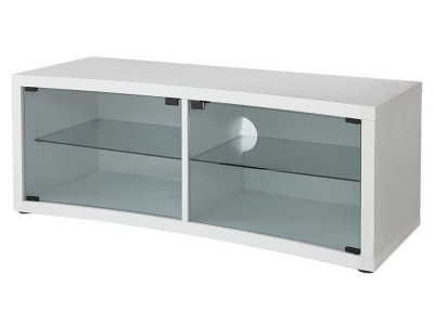 Glass Fronted Tv Cabinet Regarding Current Argos Product Support For Hygena 2 Door Glass Front Curved Tv Unit (View 9 of 20)