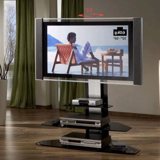 Glass Swivel Stands For Large Screen Tvs (View 7 of 20)