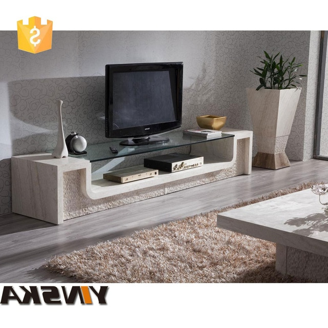 Glass Top Marble Tv Stand, Stone Tv Cabinet For Sale In Tv Stands Intended For Newest Wood Tv Stands With Glass Top (View 4 of 20)