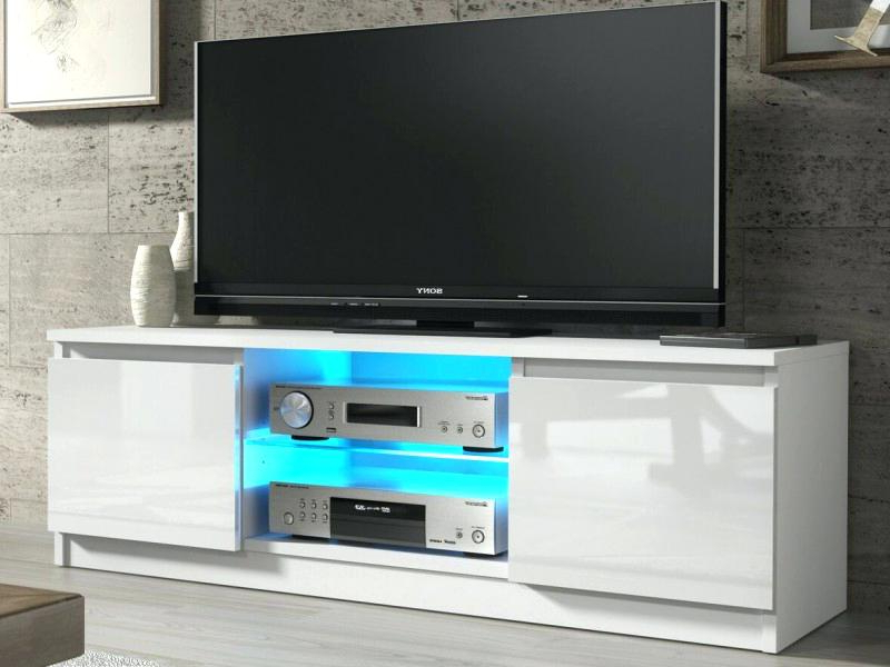 Glossy White Tv Stands With Regard To Preferred White Tv Stand With Doors High Glossy White Furniture White Tv Stand (View 12 of 20)