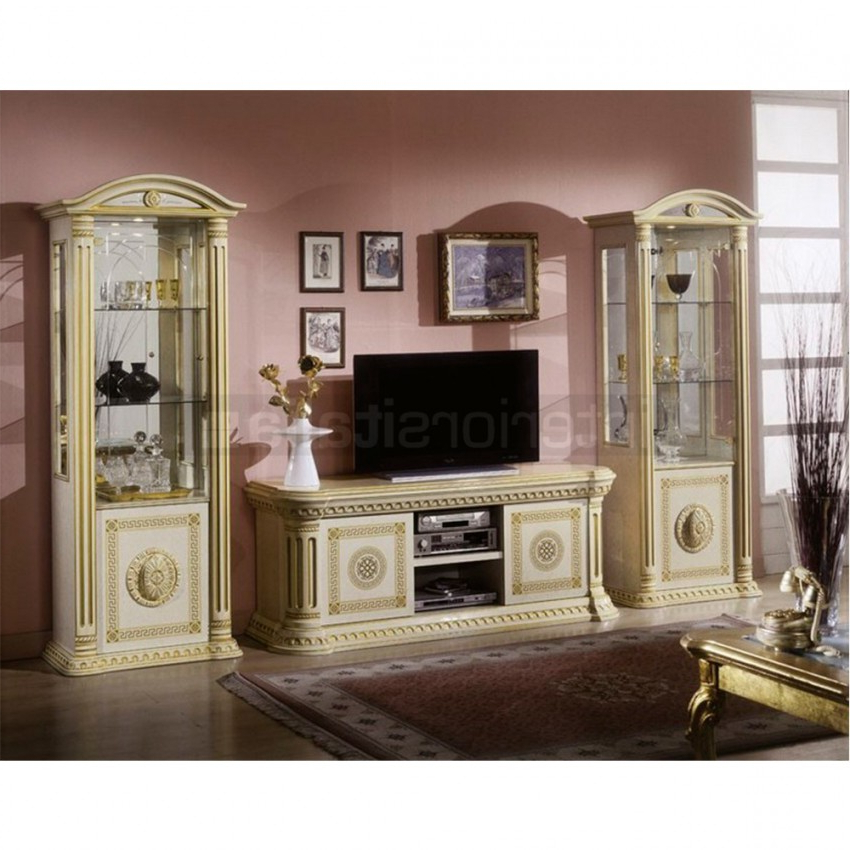 Gold Tv Cabinets Intended For Recent Classic Italian Tv Cabinet (Gallery 3 of 20)