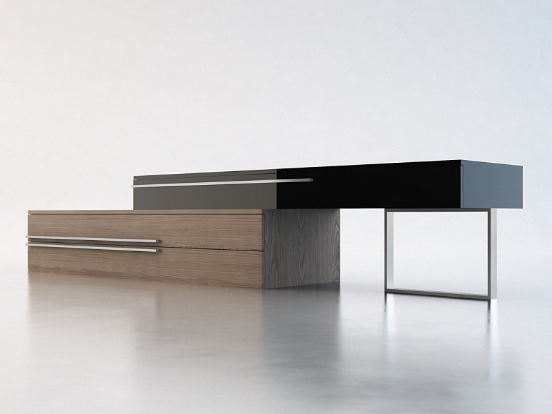 Grace Walnut & Black Lacquer Modern Tv Stands (Gallery 4 of 20)