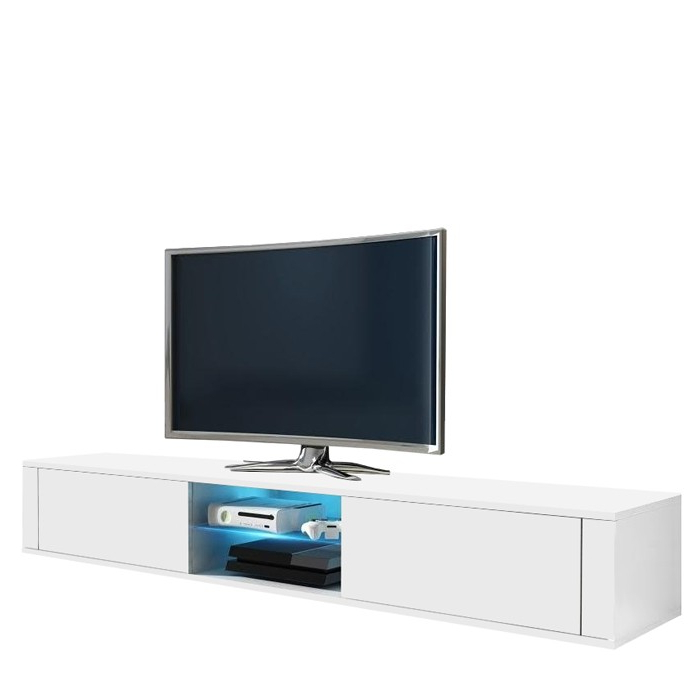 Graham White Gloss Tv Stand 140Cm With Favorite High Gloss White Tv Stands (View 6 of 20)