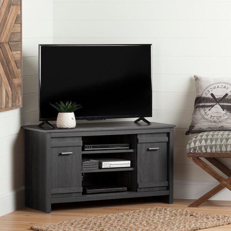 Gray Corner Tv Stand (40 Inch) – Exhibit (View 3 of 20)