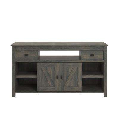 Gray – Tv Stands – Living Room Furniture – The Home Depot With Regard To Most Up To Date Kenzie 60 Inch Open Display Tv Stands (View 8 of 20)
