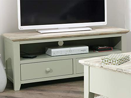 Green Tv Stands Intended For Well Liked Florence Tv Unit With Shelf And 2 Drawers (View 10 of 20)
