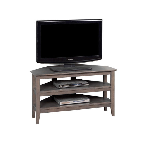 Grey Corner Tv Stands With Regard To Most Popular Quadra Corner Tv Stand – Grey (View 7 of 20)