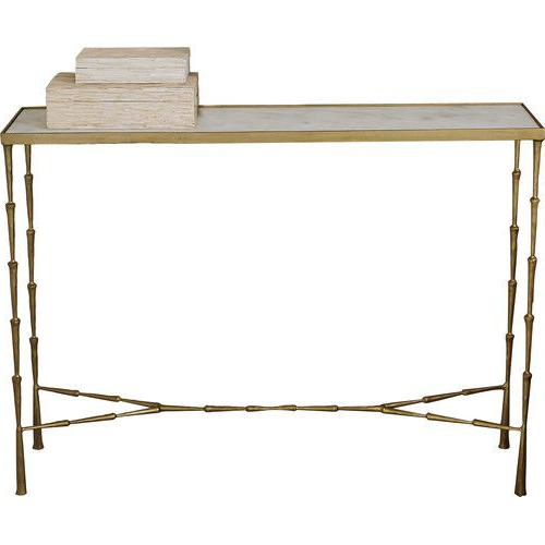 Grey Room Decorating Ideas Inside Most Recently Released Parsons Travertine Top & Brass Base 48X16 Console Tables (View 6 of 20)