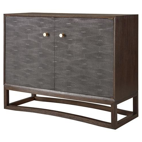 Grey Shagreen Media Console Tables In Most Popular Kellan Regency Grey Shagreen Tobacco Accent Chest (Gallery 11 of 20)