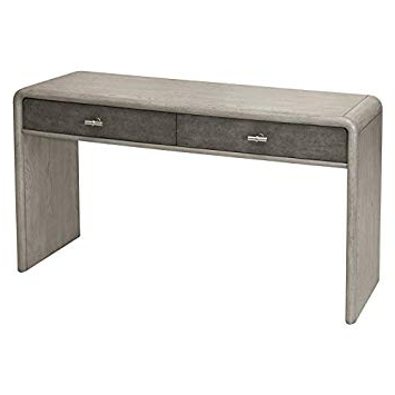 Grey Shagreen Media Console Tables With Regard To Most Up To Date Amazon: Home Fare Gray Oak And Shagreen Console Table: Kitchen (View 4 of 20)