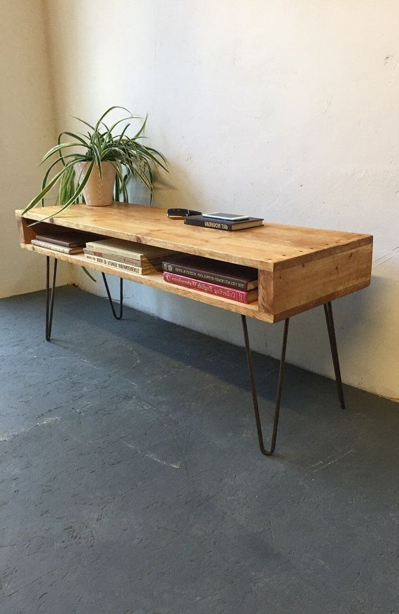 Hairpin Leg Tv Stands Within Favorite Rustic Industrial Vintage Side Table/ Coffee Table/ Tv Stand On 30Cm (Gallery 17 of 20)