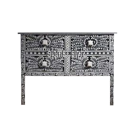Handcrafted Bone Inlay Console Table – Style Temple For Favorite Black And White Inlay Console Tables (View 15 of 20)