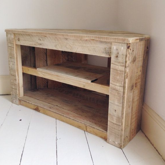 Handmade Rustic Corner Table/tv Stand Withremydicksondesigns For Most Recent Rustic Corner Tv Stands (View 17 of 20)