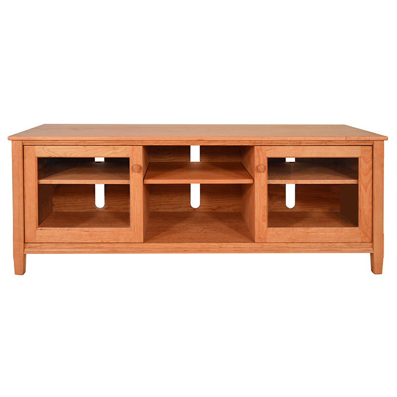 Hard Wood Tv Stands Intended For Widely Used Large Shaker Style Solid Wood Tv Stands & Media Consoles (Gallery 19 of 20)
