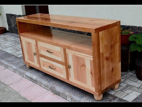 Hard Wood Tv Stands Pertaining To Recent Alder Wood Tv Stand – Youtube (Gallery 14 of 20)