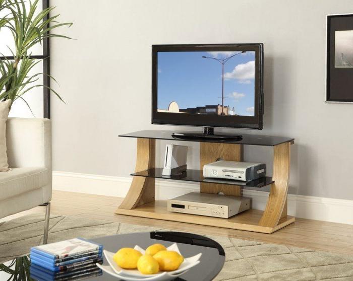 Hardwood Tv Stands Inside 2018 Oak Tv Stands – Oak Tv Furniture (View 12 of 20)