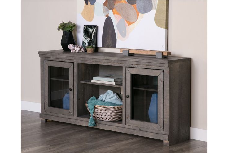 Heather Living Room Inside Sinclair Grey 68 Inch Tv Stands (View 15 of 20)
