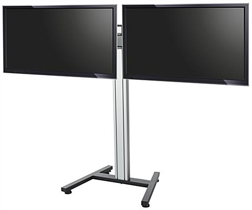 Height Adjustable Mount With Dual Tv Stands (Gallery 14 of 20)