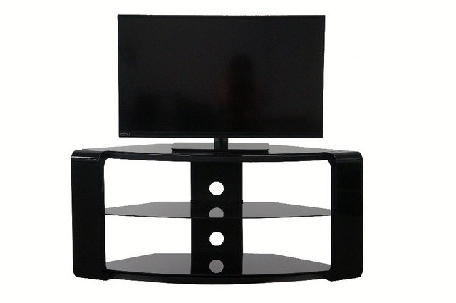 High Gloss Black Glass And Wood Stylish Tv Stand In Tv Stands From Within 2017 Stylish Tv Stands (Gallery 12 of 20)