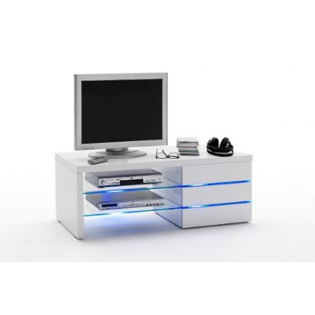 High Gloss Tv Cabinets Pertaining To Famous Lena – High Gloss Tv Unit With Led Lights – Tv Stands (560) – Sena (View 9 of 20)