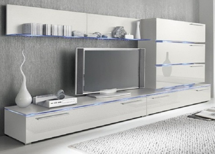 High Gloss White Wall Mounted Tv Units With Glass Panels ~ Mzvirgo In Favorite Black Gloss Tv Wall Unit (View 11 of 20)