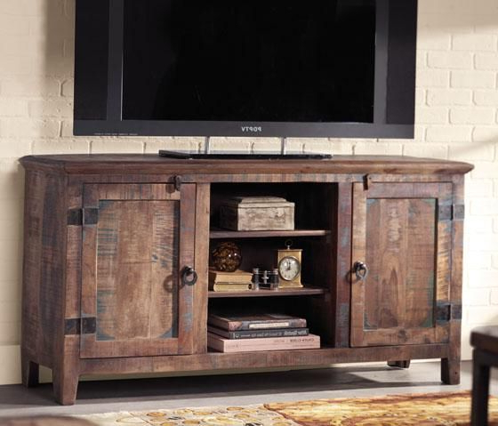 Holbrook Tv Stand Add Interest And Rustic Appeal To Your Home Throughout Well Known Rustic Tv Stands (View 5 of 20)