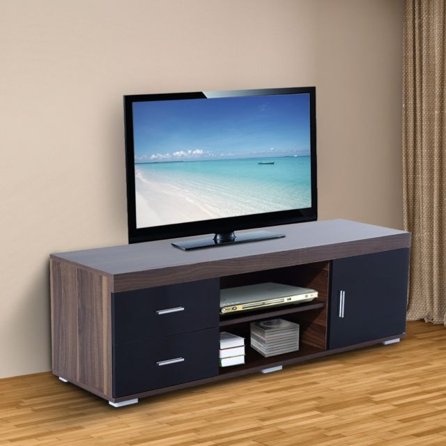 Homcom Tv Stand W/ 1 Door 2 Drawers Shelves Entertainment Center Within Most Popular Tv Stands With Drawers And Shelves (View 7 of 20)