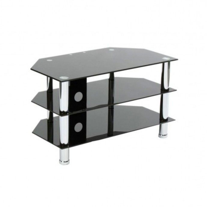 Home Decor Inside Black Glass Tv Stands (View 7 of 20)