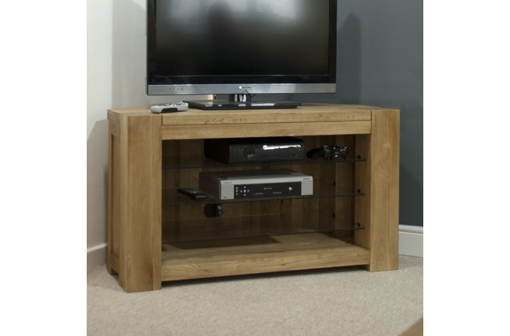 Homestyle Trend Oak Corner Tv Unit From The Bed Station With Most Recent Oak Corner Tv Cabinets (Gallery 3 of 20)