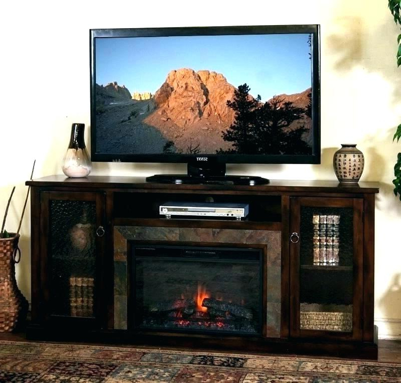 Honey Oak Tv Stands Regarding Best And Newest Oak Tv Stand With Fireplace Living Room Adorable Media Electric (View 11 of 20)